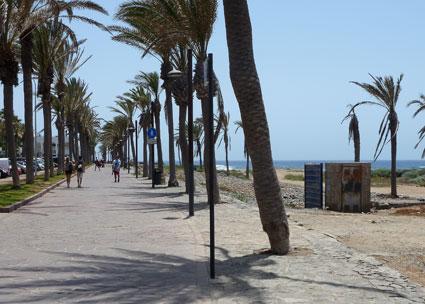 Strandpromenade in Las Americas