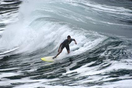 Wellenreiter bei Benijo